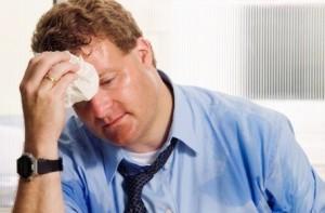 suando no trabalho